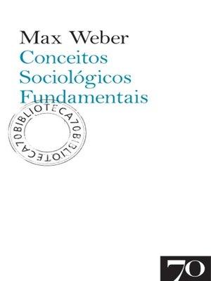 cover image of Conceitos Sociológicos Fundamentais