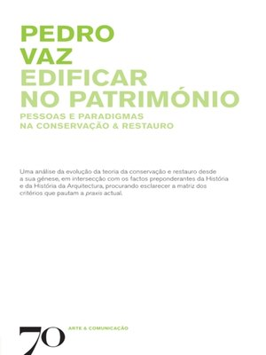 cover image of Edificar no Património