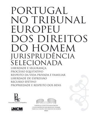 cover image of Portugal no Tribunal Europeu dos Direitos do Homem