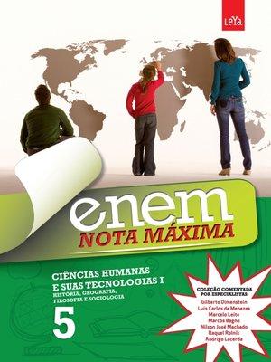 cover image of Enem Nota Máxima--Ciências Humanas e Suas Tecnologias I