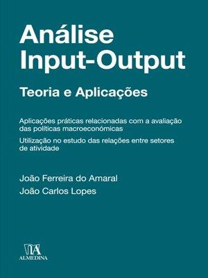cover image of Análise input-output--Teoria e Aplicações