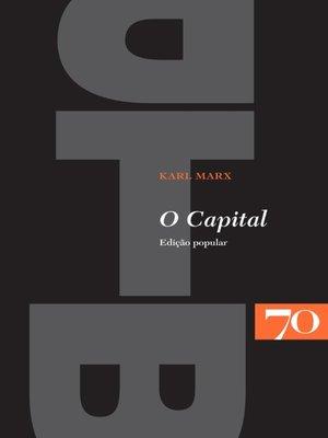 cover image of O Capital--edição popular