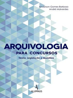 cover image of Arquivologia para concursos