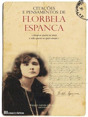 cover image of Citações e Pensamentos de Florbela Espanca