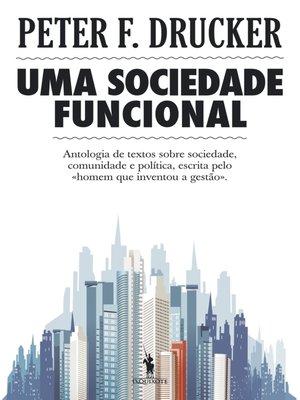 cover image of Uma Sociedade Funcional