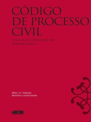cover image of Código de Processo Civil