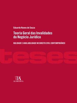 cover image of Teoria Geral das Invalidades do Negócio Jurídico
