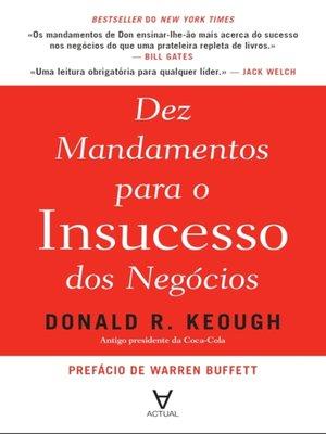 cover image of Dez mandamentos para o insucesso dos negócios