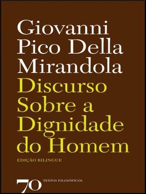 cover image of Discurso sobre a Dignidade do Homem