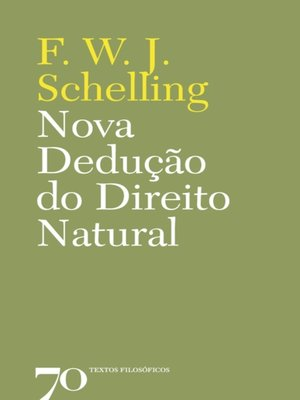 cover image of Nova dedução do direito natural