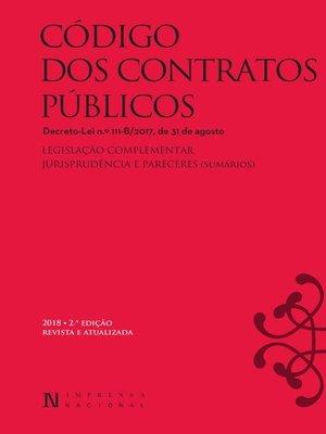 cover image of Código dos Contratos Publicos--2.ª edição