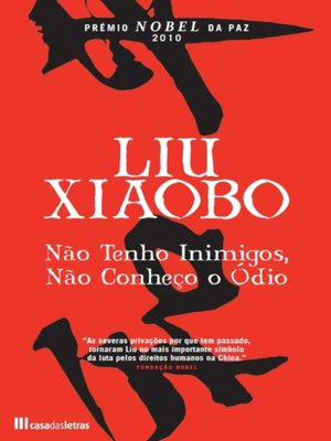 cover image of Não Tenho Inimigos, Não Conheço o Ódio