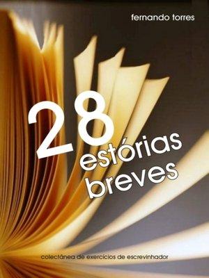 cover image of 28 estórias breves