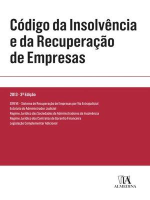 cover image of Código da Insolvência e da Recuperação de Empresas