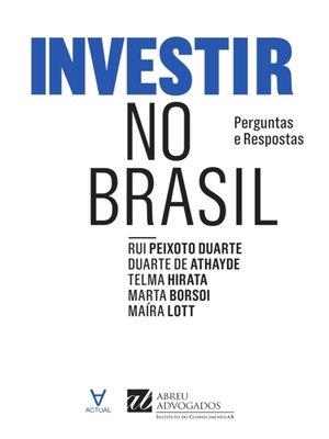 cover image of Investir no Brasil