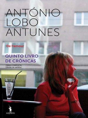 cover image of De l'amour