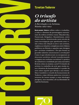 cover image of O Triunfo do Artista--A Revolução e os Artistas. Rússia
