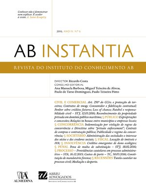 cover image of AB Instantia--2016, Ano IV, n.º 6, Anual