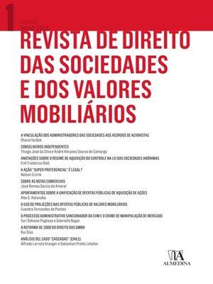 cover image of Revista de Direito das Sociedades e dos Valores Mobiliários, Volume 1