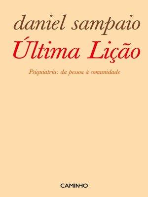 cover image of Última Lição. Psiquiatria