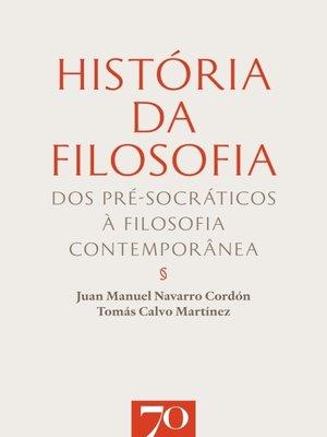 cover image of História da Filosofia