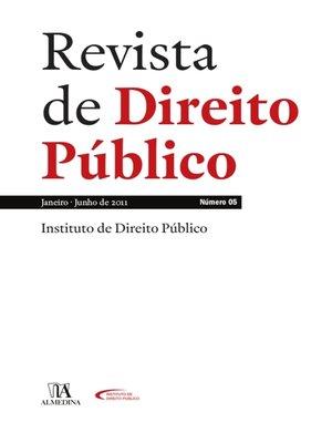 cover image of Revista de Direito Público, Ano III, N.º 5, Janeiro/Junho 2011