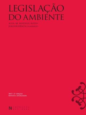 cover image of Legislação do Ambiente – 3.ª Edição