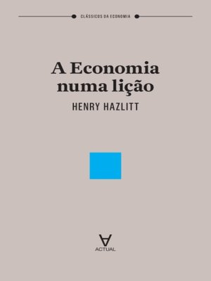 cover image of A Economia numa Lição