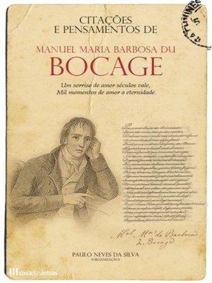 cover image of Citações e Pensamentos de Bocage
