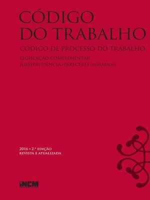 cover image of Código do Trabalho