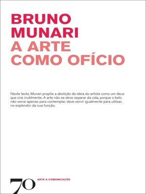 cover image of A Arte como Ofício
