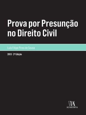 cover image of Prova por Presunção no Direito Civil