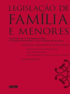 cover image of Legislação de Família e Menores