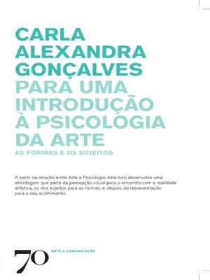 cover image of Para uma introdução à Psicologia da Arte