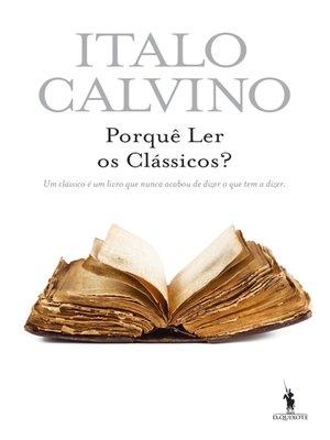 cover image of Porquê Ler os Clássicos?