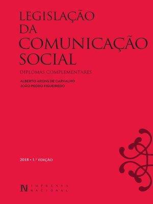 cover image of Legislação da Comunicação Social e outros Diplomas Relevantes