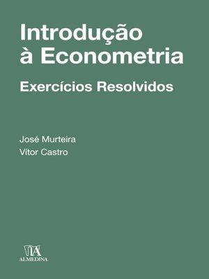 cover image of Introdução à Econometria--Exercícios Resolvidos