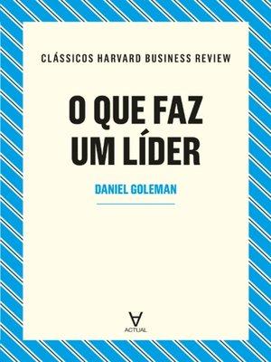 cover image of O que faz um lider?