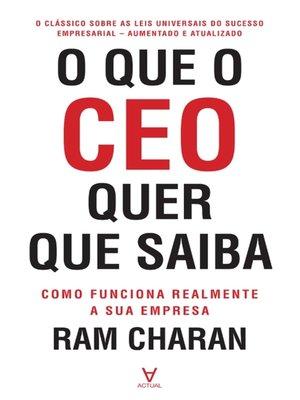 cover image of O que o CEO quer que saiba
