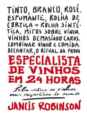 cover image of Especialista de Vinhos em 24 Horas
