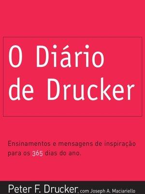 cover image of O Diário de Drucker