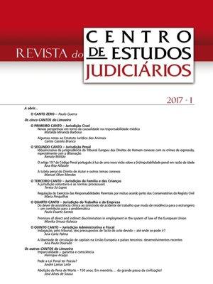 cover image of Revista do CEJ n.º 1 de 2017