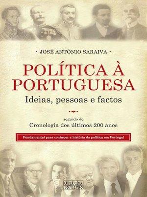 cover image of Política à Portuguesa
