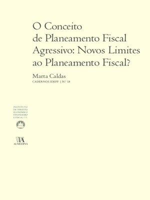 cover image of O Conceito de Planeamento Fiscal Agressivo