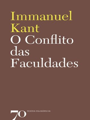 cover image of O Conflito das Faculdades
