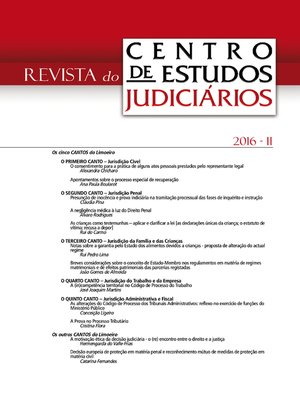 cover image of Revista do CEJ n.º 2 de 2016