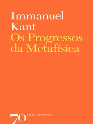 cover image of Os Progressos da Metafísica