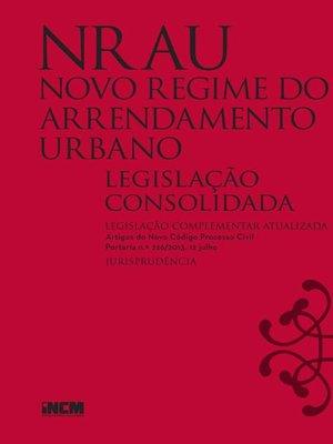 cover image of Novo Regime Arrendamento Urbano (Legislação Consolidada)