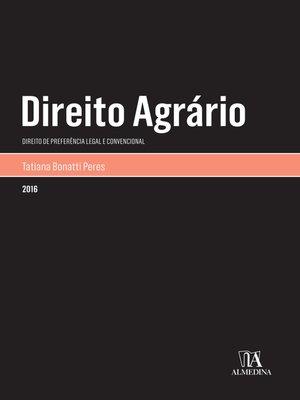 cover image of Direito Agrário--Direito de preferência legal e convencional