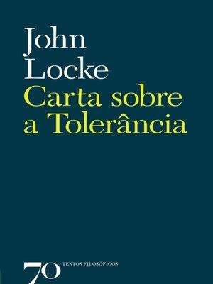 cover image of Carta sobre a Tolerância